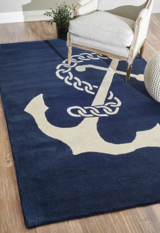 18-anchor-chain-rug The Ultimate Guide to Nautical Themed Area Rugs