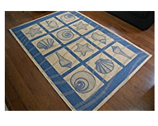 9-coastal-seashell The Ultimate Guide to Nautical Themed Area Rugs