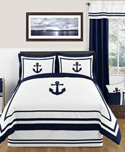 Anchors-Away-Nautical-Navy-and-White-Boys-3-Piece-Full-Queen-Bedding-Set-0