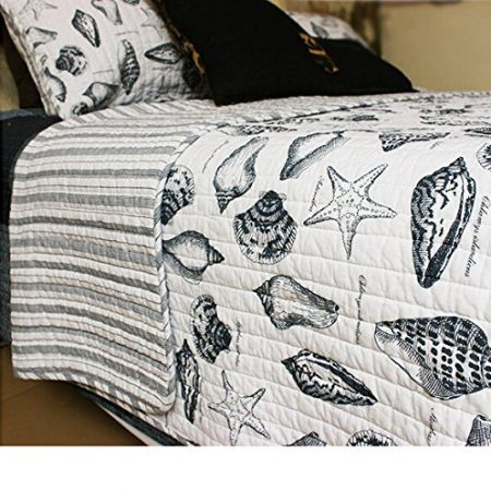 Brandream-Seashells-Beach-Themed-Nautical-Bedding-Queen-Comforter-Set-0-450x450 The Best Nautical Quilts and Nautical Bedding Sets