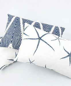 Chloe-Olive-Beach-Bum-Blue-Collection-Reversible-Starfish-and-Chevron-12-by-20-Inch-Lumbar-Decorative-Pillow-Cover-1-Cover-Coastal-Dcor-Blue-White-0