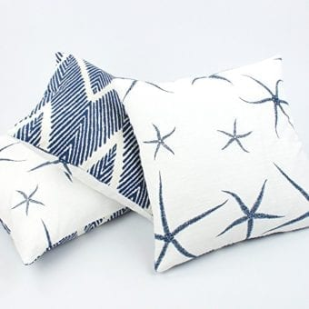 Chloe-Olive-Beach-Bum-Blue-Collection-Reversible-Starfish-and-Chevron-18-Inch-Square-Decorative-Pillow-Cover-1-Cover-Coastal-Dcor-Blue-White-0