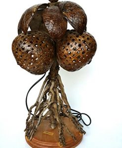 Coconut-Tree-Coconut-Shell-Lamp-Handmade-Best-for-Gifts-Chiangmai-No100102-Free-A-Gift-Tea-Pillow-Handmade-For-Eliminates-Odor-in-Car-and-in-the-Refrigerator-0-247x300 The Best Coconut Table Lamps You Can Buy