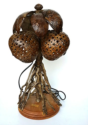Coconut-Tree-Coconut-Shell-Lamp-Handmade-Best-for-Gifts-Chiangmai-No100102-Free-A-Gift-Tea-Pillow-Handmade-For-Eliminates-Odor-in-Car-and-in-the-Refrigerator-0