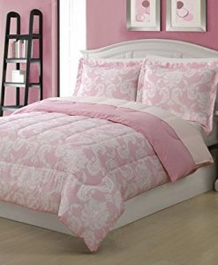 Full-Microfiber-Kids-Dainty-Bedding-Comforter-Set-Pink-0