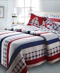 Greenland-Home-Nautical-Stripes-Bonus-Quilt-Set-0-247x300 The Best Nautical Quilts and Nautical Bedding Sets