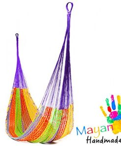 Handmade-Cotton-Hammock-Woven-by-Yucatan-Artisans-A-Fair-Trade-Item-Mold-To-You-Body-And-Most-Comfortable-Mexican-Style-in-Various-Sizes-up-to-770-lbs-Max-0