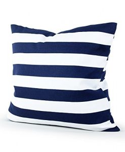 Lavievert-Decorative-Canvas-Square-Throw-Pillow-Cover-Cushion-Case-Navy-Blue-Stripe-Toss-Pillowcase-with-Hidden-Zipper-Closure-18-X-18-Inches-For-Living-Room-Sofa-Etc-0-247x300 The Best Nautical Pillows and Throw Pillows