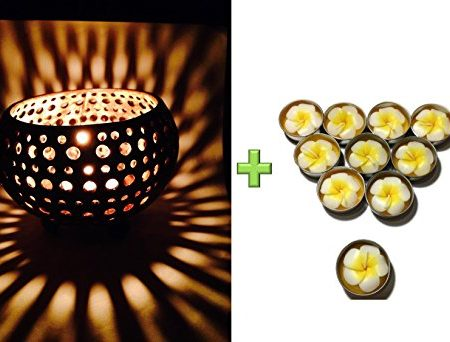 Lovely-Coconut-Shell-w-Free-Tea-Light-with-Fragrant-Flower-Candle-Candle-Holder-Genuinely-Handmade-for-Home-Room-Patio-Party-Decor-0-450x342 Coastal Themed Lamps