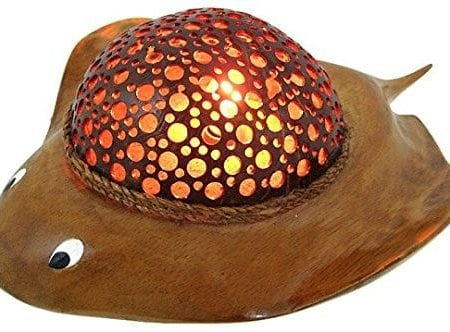 Natural-Coconut-Shell-Stingray-Accent-Lamp-Night-Light-0-450x332 Coastal Themed Lamps