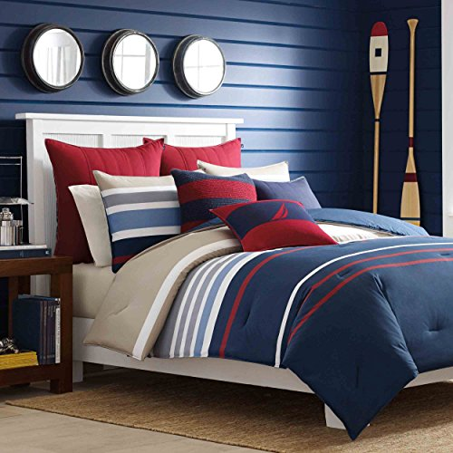 Nautica-Bradford-Reversible-Comforter-Set-0 The Best Nautical Quilts and Nautical Bedding Sets