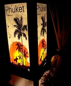 Phuket-Island-Sun-Beach-Coconut-Handmade-Asian-Oriental-Wood-Table-Bedside-Light-Night-Lamp-Gift-Bedroom-Garden-Shade-Frame-Free-Adapter-a-Us-2-Pin-Plug-426-0