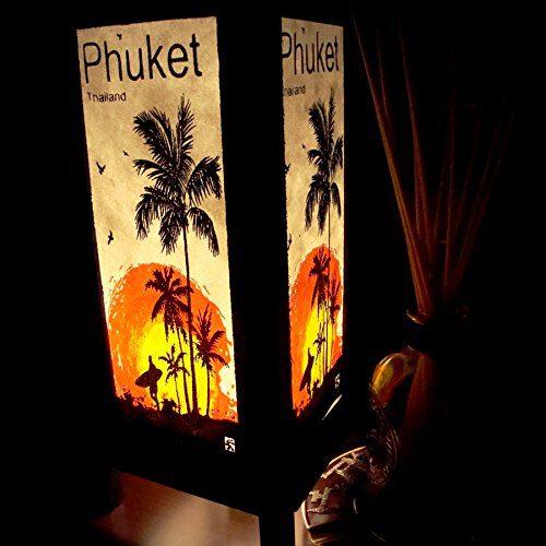 Phuket-Island-Sun-Beach-Coconut-Handmade-Asian-Oriental-Wood-Table-Bedside-Light-Night-Lamp-Gift-Bedroom-Garden-Shade-Frame-Free-Adapter-a-Us-2-Pin-Plug-426-0