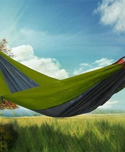 RioRand 2-Person Camping Parachute Hammock, Army Green/Grey