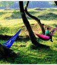 RioRand-2-Person-Portable-Outdoor-Double-Camping-Parachute-Hammocks984-Long-X-55-WideBlueGrey-0-4
