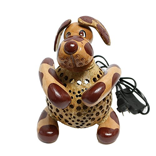 Wood-Dog-Table-Lamp-for-Decor-Environment-Friendly-Handmade-Coconut-Shell-Living-Room-Animal-Kids-Decoration-0