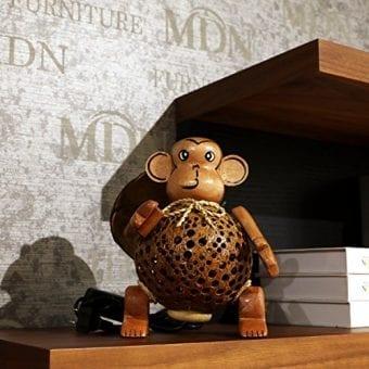 Wood-Monkey-Table-Lamp-for-Decor-Environment-Friendly-Handmade-Coconut-Shell-Living-Room-Animal-Kids-Decoration-0-2