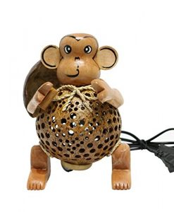 Wood-Monkey-Table-Lamp-for-Decor-Environment-Friendly-Handmade-Coconut-Shell-Living-Room-Animal-Kids-Decoration-0