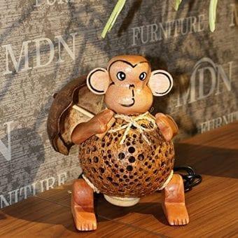 Wood-Monkey-Table-Lamp-for-Decor-Environment-Friendly-Handmade-Coconut-Shell-Living-Room-Animal-Kids-Decoration-0-4