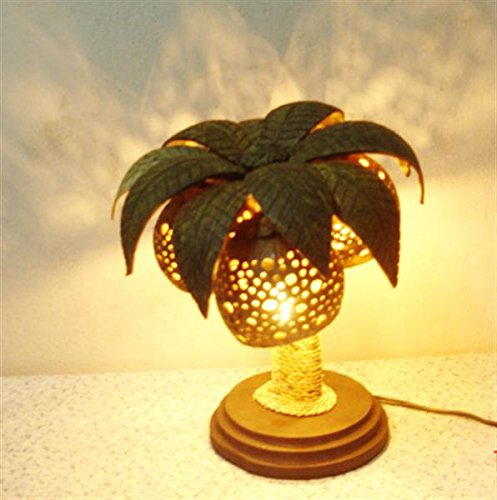 Wooden-Bedside-Table-Lamps-of-Coconut-Shell-Asian-Night-Light-Wood-Shades-Desk-Lamp-Handmade-0
