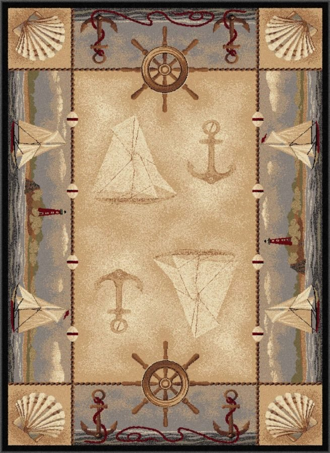 Nautical Area Rug 4 Beautiful Rugs