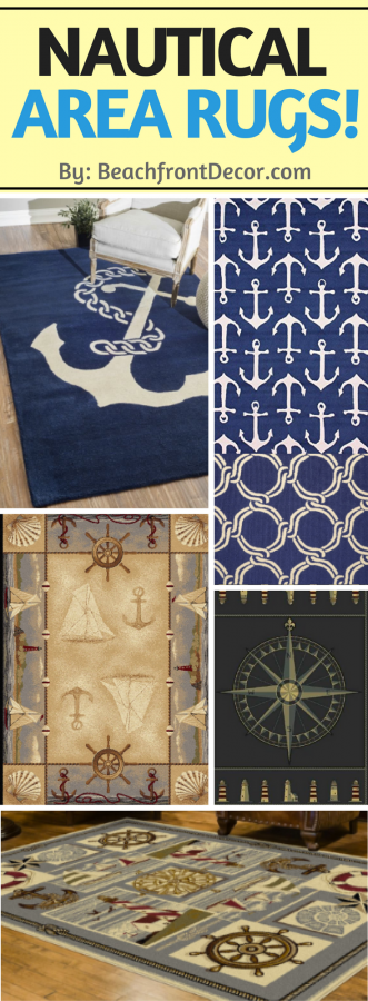 Beautiful Nautical Area Rugs Beachfront Decor