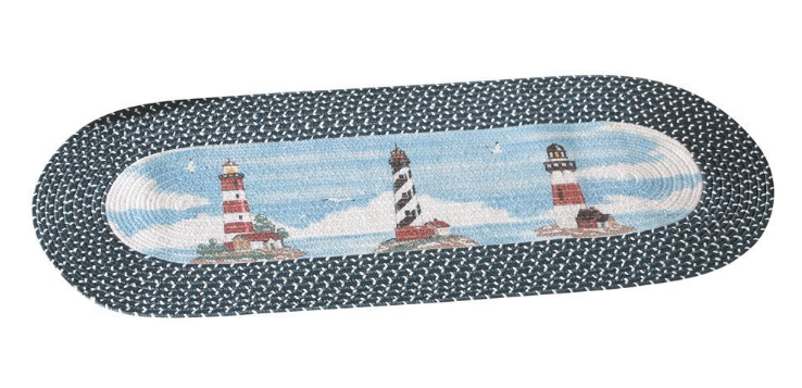 oval-lighthouse-area-rug-nautical The Ultimate Guide to Nautical Themed Area Rugs