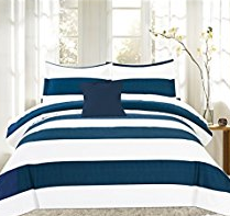 16-nautical-stripe The Ultimate Guide to Nautical Bedding Sets
