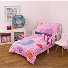 Little-Tikes-4-Piece-Mermaid-Toddler-Bedding-Set-FuchsiaPink The Best Nautical Quilts and Nautical Bedding Sets