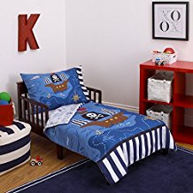 Little-Tikes-4-Piece-Pirates-Toddler-Bedding-Set-BlueRedBlack-5222x2822 The Best Nautical Quilts and Nautical Bedding Sets