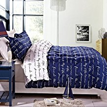 NTBAY-3-Pieces-Duvet-Cover-Set-Blue-Printed-Microfiber-Reversible-Design The Best Nautical Quilts and Nautical Bedding Sets