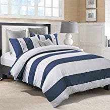 Superior-Addison-100-Cotton-Duvet-Cover-Set-with-2-Pillow-Shams The Best Nautical Quilts and Nautical Bedding Sets
