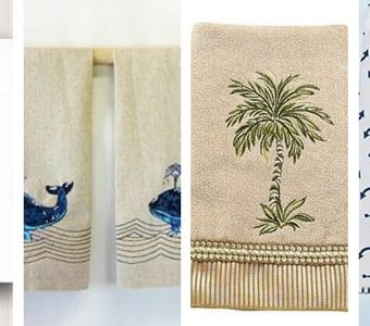 beach themed hand towels