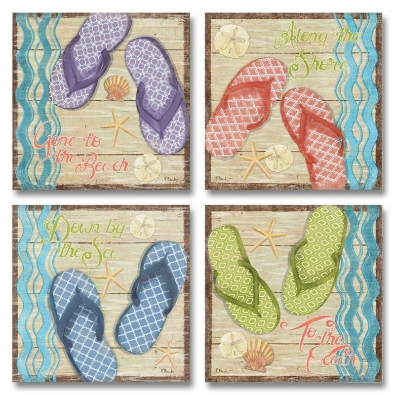 four-flip-flop-poster-prints-800x800 Best Flip Flop Decor