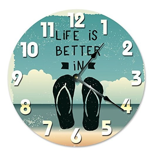 life-is-better-in-flip-flops-wall-clock Best Flip Flop Decor