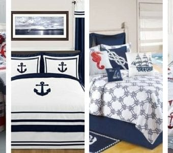 nautical-themed-bedding-340x300 The Best Palm Tree Comforter and Bedding Sets