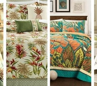 tropical-themed-bedding-340x300 The Best Palm Tree Comforter and Bedding Sets