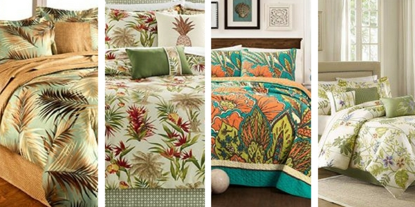 quilt tropical leaf botanical linenstar modern bed product floral bedding duvet set all cover sizes