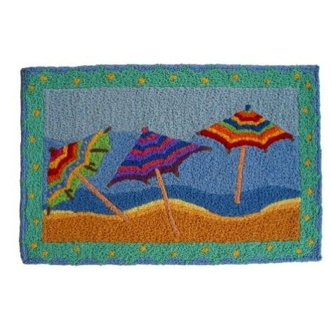 beach-umbrellas-jellybean-area-rug Beach Themed Jellybean Area Rugs