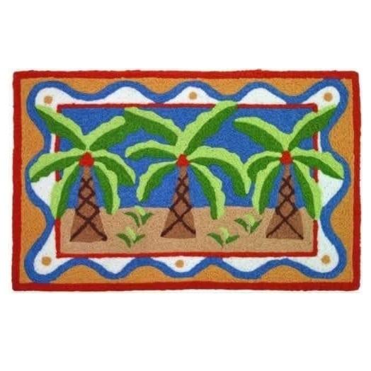 jellybean-palm-trees-on-the-beach-accent-rug Beach Themed Jellybean Area Rugs