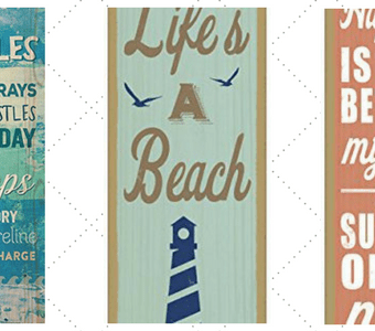 wood-beach-accent-signs-340x300 Kitchen Beach Decor Ideas You Can Try Yourself
