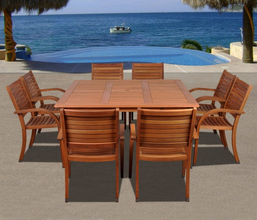 Best teak patio furniture sets beachfront decor for Teak wood patio furniture