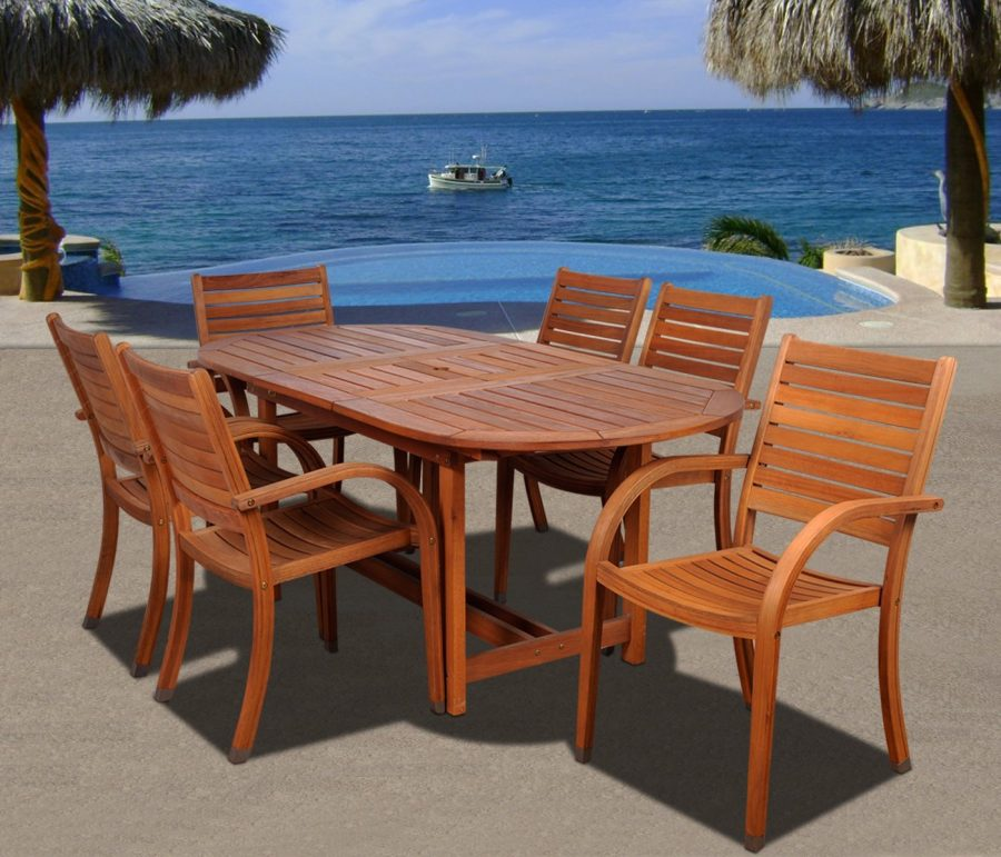 Best teak patio furniture sets beachfront decor for Teak patio furniture