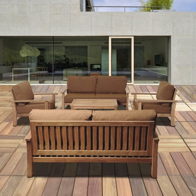 3-outdoor-teak-furniture-set 20 Of Our Favorite Outdoor Teak Furniture Sets