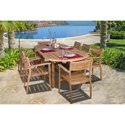 5-outdoor-teak-furniture-set 20 Of Our Favorite Outdoor Teak Furniture Sets
