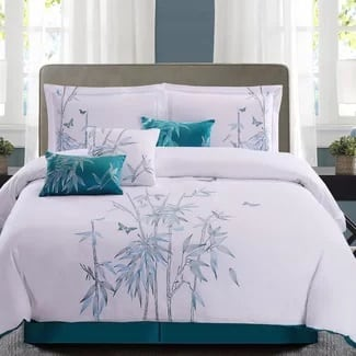7-piece-palm-tree-comforter-set Hawaii Themed Bedding Sets