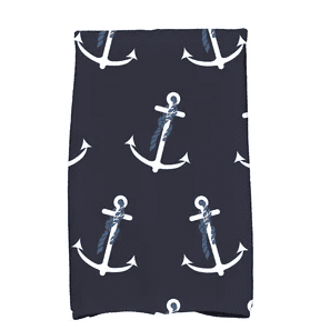 Bridgeport-Anchor-Whimsy-Print-Hand-Towel Beautiful Beach and Nautical Hand Towels