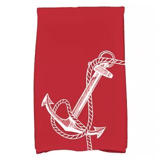 Bridgeport-Anchored-Print-Hand-Towel Beautiful Beach and Nautical Hand Towels