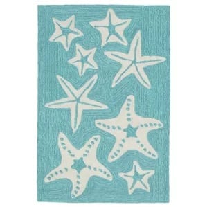 Claycomb-Starfish-Hand-Tufted-Blue-Area-Rug-39 Starfish Rugs and Area Rugs