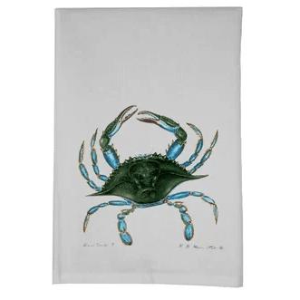 Coastal-Crab-Hand-Towel Beautiful Beach and Nautical Hand Towels